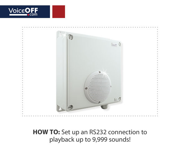 How to set up an RS232 connection to playback up to 9999 sounds!